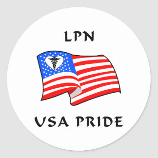 LPN Nurse USA Pride Sticker