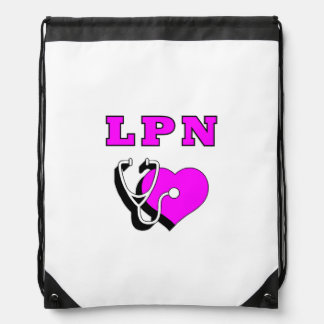 LPN Nurses Care Drawstring Backpacks