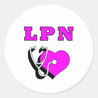 LPN Nurses Care Stickers