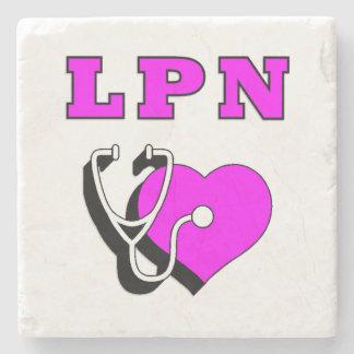 LPN Nurses Care Stone Coaster