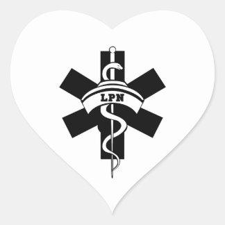 LPN Nurses Heart Sticker