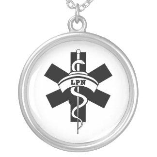LPN Nurses Round Pendant Necklace