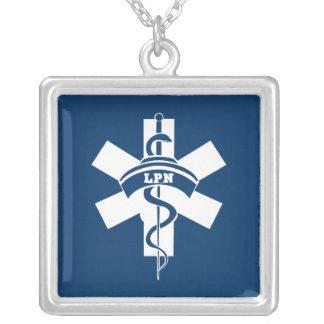 LPN Nurses Square Pendant Necklace