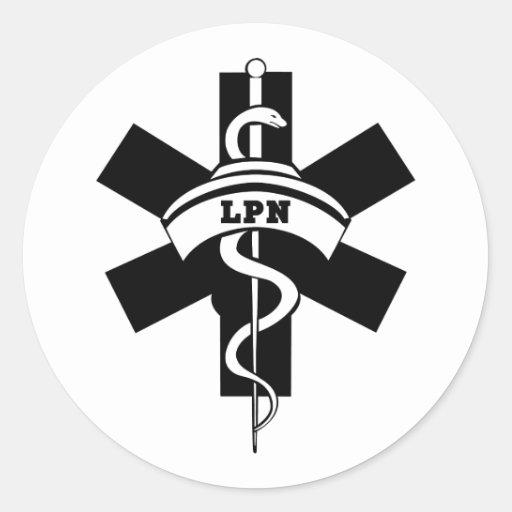 LPN Nurses Round Sticker