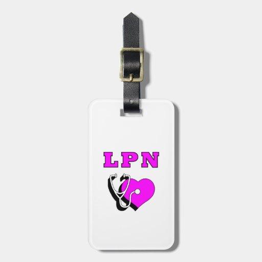 LPN Nursing Care Luggage Tag