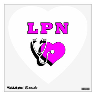 LPN Nursing Care Wall Decal