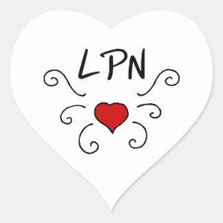 LPN Nursing Love Tattoo Heart Sticker