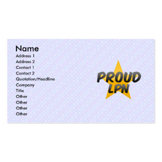 Lpn orgulloso plantillas de tarjetas personales