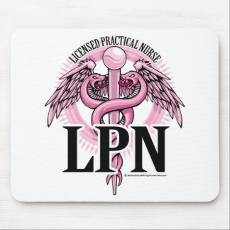 LPN PINK Caduceus Mouse Pad