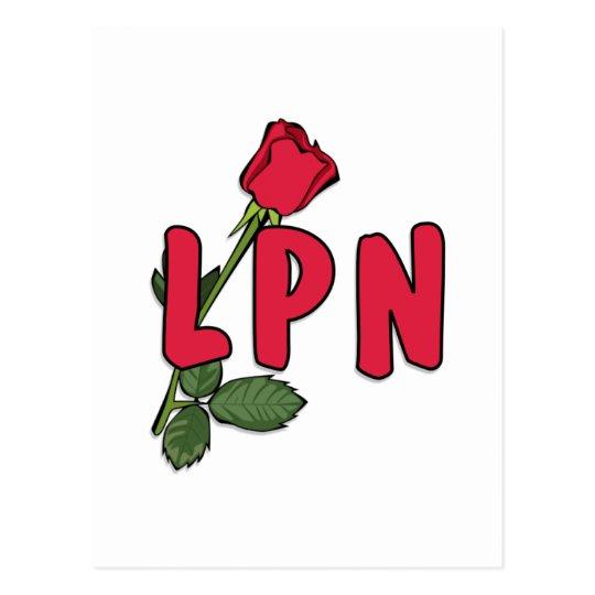 LPN Rose Postcard