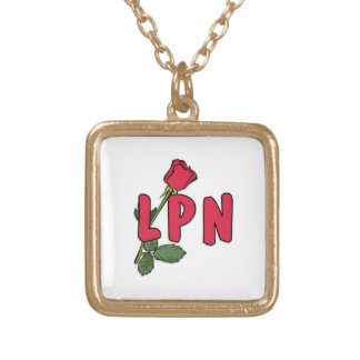 LPN Rose Square Pendant Necklace