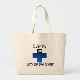 LPN-Señora de la noche Bolsa Tela Grande