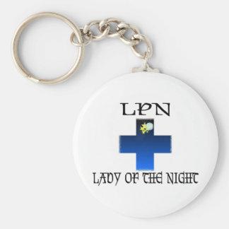 LPN-Señora de la noche Llavero Redondo Tipo Pin
