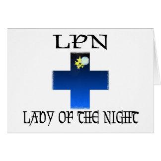 LPN-Señora de la noche Tarjeta De Felicitación