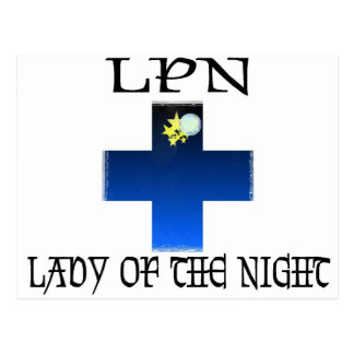 LPN-Señora de la noche Tarjeta Postal