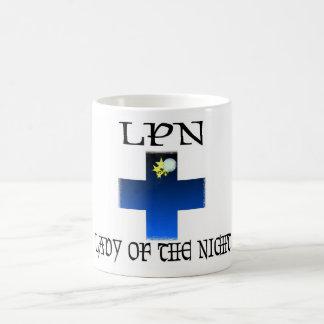 LPN-Señora de la noche Tazas De Café