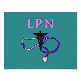 LPN Stethoscope Posters