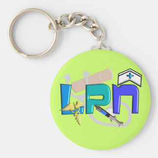 LPN  T-shirts and Gifts Basic Round Button Keychain