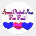 """LPN """"tienen corazones""""---Regalos únicos de la Etiquetas Redondas"""