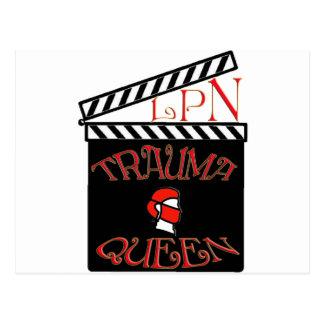 LPN TRAUMA QUEEN / KING LICENSED PRACTICAL NURSE POSTCARD