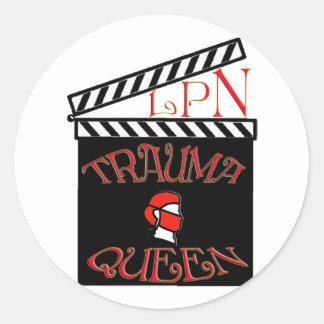 LPN TRAUMA QUEEN / KING LICENSED PRACTICAL NURSE STICKERS
