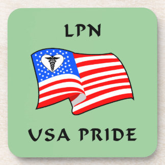 LPN USA Pride Drink Coaster