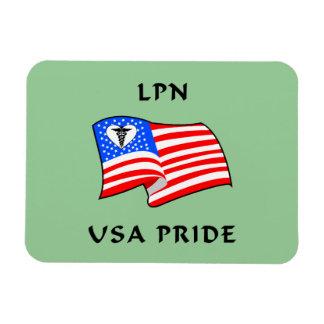 LPN USA Pride Magnet