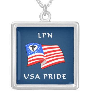 LPN USA Pride Square Pendant Necklace