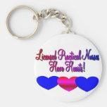 "LPN's ""Have Hearts""---Unique nurse gifts Keychains"