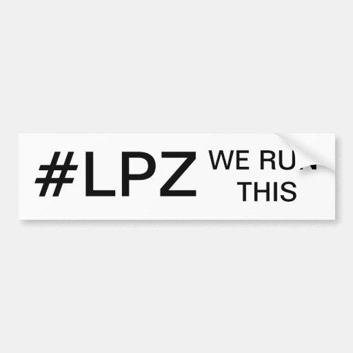 #LPZ ETIQUETA DE PARACHOQUE