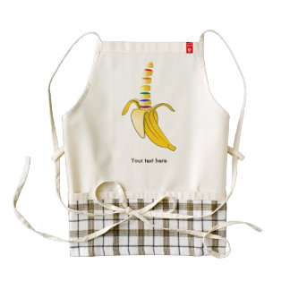LQBQ Pride Cartoon Banana Zazzle HEART Apron