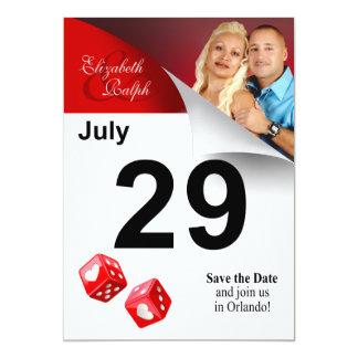 LR Calendar Page Save the Date Las Vegas Photo Card