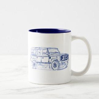 LR Defender Xtech 2011 Two-Tone Coffee Mug