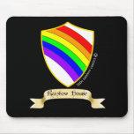 LRC: Cojín de ratón de casa del arco iris Tapete De Raton