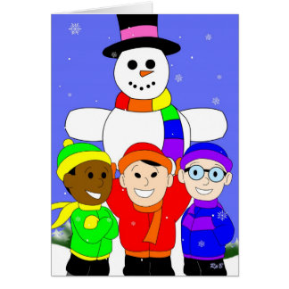 LRC: Rainbow Snowma Greeting Card