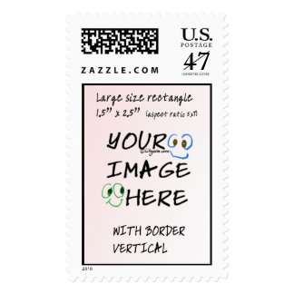 Lrg Make your own stamps Personal Postage Vertical