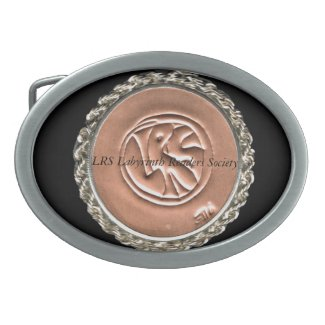 LRS Labyrinth Readers Society Belt Buckle
