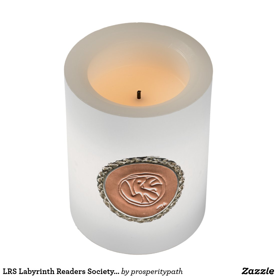 LRS Labyrinth Readers Society LED Votive Candle