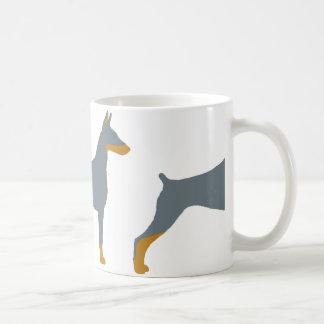 LS Doberman Pinscher blue and rust  silo Coffee Mug