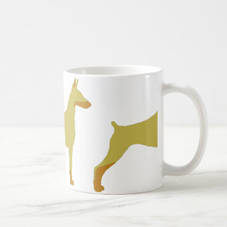 LS Doberman Pinscher fawn and rust  silo Coffee Mug