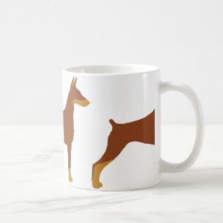LS Doberman Pinscher red and rust  silo Coffee Mug