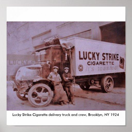 LS Truck Print Copy, Lucky Strike Cigarette del...