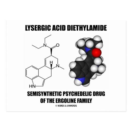 LSD Semisynthetic Psychedelic Drug Ergoline Family Postcard