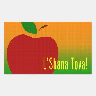 L'Shana Tova Apple Rectangular Sticker