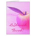 L'Shanah rosado Tovah Apple carda Tarjeta