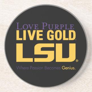 LSU donde la pasión se convierte en genio Posavasos Personalizados