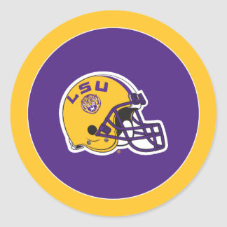 LSU Football Helmet Classic Round Sticker