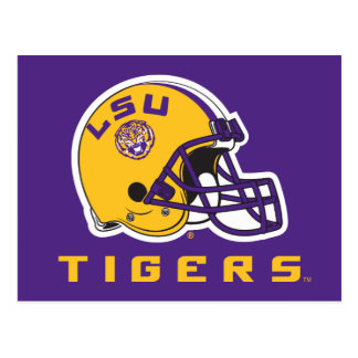 LSU Football Helmet Postcard
