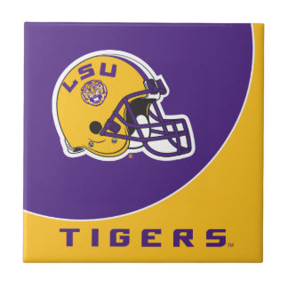 LSU Football Helmet Tile