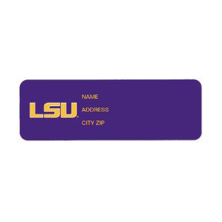 LSU Gold White Logo Custom Return Address Labels